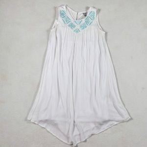 Wrangler White Loose Fit Sleeveless Summer Dress